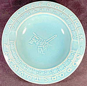 Braille Alphabet Dish With Seeing Eye Dog