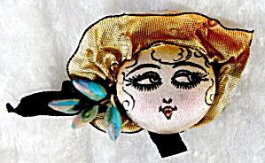 Vintage Hand Painted Silk Head (Image1)