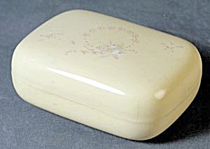 Vintage Celluloid Enameled Painted Soap Box (Image1)