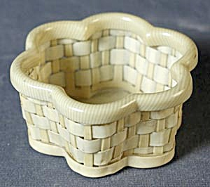 Vintage Celluloid (French Ivory) Basket (Image1)