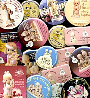 Vintage Enesco Precious Moments Pin Collection