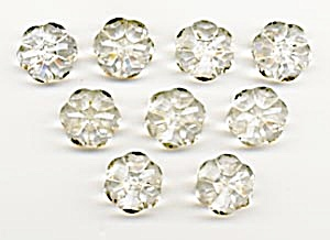 Vintage Clear Glass Flower Buttons (Image1)