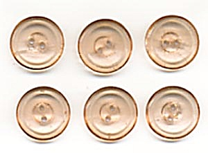 Vintage Peachy Pink Glass Buttons (Image1)