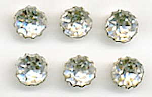 Vintage Rhinestone Buttons Set Of 6