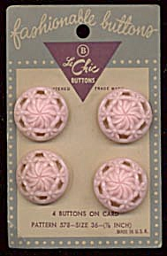 Vintage Pink Lacy Flower Buttons (Image1)