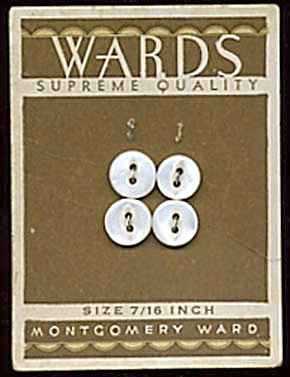 Vintage Montgomery Wards White Pearl Buttons