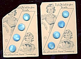 Vintage Sky Blue Pearl Buttons