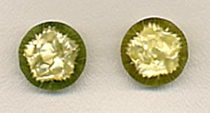 Vintage Plastic Pale Green Buttons Set Of 2