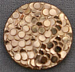 Vintage Gold Flashed Glass Button