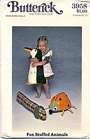Vintage #3958 Butterick Toy Pattern (Image1)