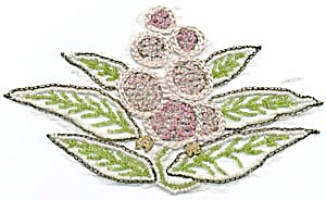 Vintage Embroidered and Beaded Applique (Image1)