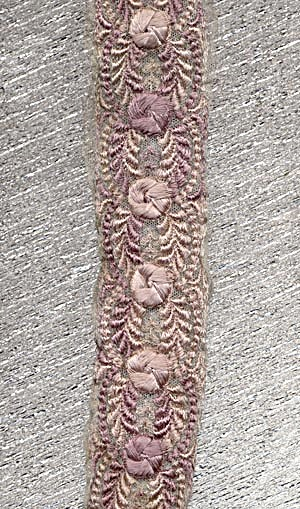 Vintage Mauve And Rose Trim