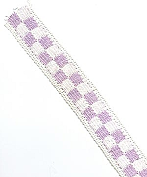 Vintage Lavender & Cream Crocheted Trim