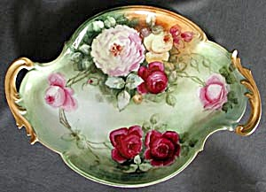 Antique Hand Painted Large Dresser Tray (Image1)