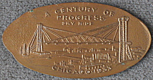 Chicago Worlds Fair Sky Ride Penny