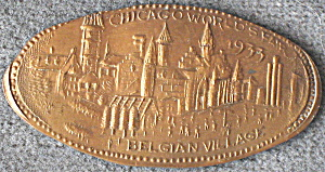 Chicago Worlds Fair Belgian Village Penny (Image1)