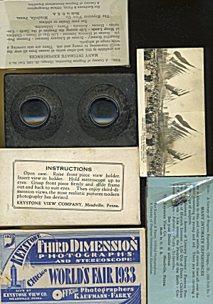 Keystone Third Dimension Photographs & Stereoscope Cent