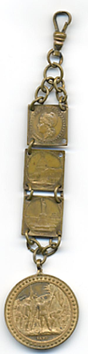 World's Columbian Expo Chicago 1893 Watch Fob