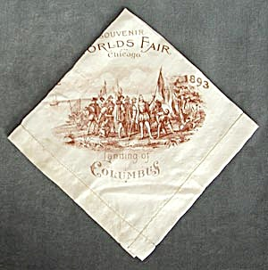 Chicago World's Fair Columbian Exposition 1893 Hanky (Image1)