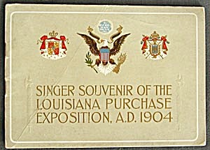 Antique Singer Souvener Of Louisiana Purchase Expo.1904