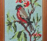 Click to view larger image of Vintage Framed Beaded Bird Picture (Image2)