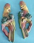 Vintage Pair of Parrot Plaster Plaques