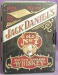 Click here to enlarge image and see more about item ADTIN107: Vintage Jack Daniel's Old No. 7 Metal Tin