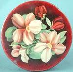 Click here to enlarge image and see more about item ADTIN137: Vintage Mrs. Steven's Magnolia Candies Tin