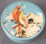Click here to enlarge image and see more about item ADTIN165: Vintage Cardinal Large Tin