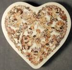 Click here to enlarge image and see more about item ADTIN16: 1980 Fannie May Candies Tin Heart