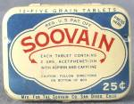 Click here to enlarge image and see more about item ADTIN178: Vintage Metal Soovain Tin