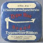 Click here to enlarge image and see more about item ADTIN179: Type Bar Brand Typewriter Ribbon Tin