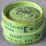 Click here to enlarge image and see more about item ADTIN186: Vintage Clover Grinding Compound Two Sided Tin