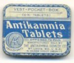 Click here to enlarge image and see more about item ADTIN231: Rare Antikamnia Tablets Vest-Pocket Size Tin