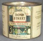 Click here to enlarge image and see more about item ADTIN56: Vintage Bond Street Pipe Tobacco Tin