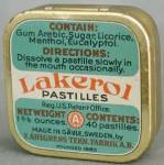 Click here to enlarge image and see more about item ADTIN73: Vintage Lakerol Pastilles Tin
