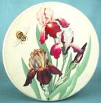 Click here to enlarge image and see more about item ADTIN83: Vintage Iris & Bumble Bee Large Tin