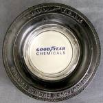 Click here to enlarge image and see more about item ADVAUT9: Vintage Good Year Chemicals Ash Tray