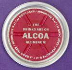 Click here to enlarge image and see more about item ADVGEN17: Vintage Alcoa Aluminum Advertising Coaster