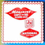 Click here to enlarge image and see more about item ADVGEN78: Vintage Magikist Carpet & Rug Advertising Paper Coaster
