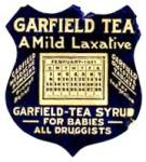 Click here to enlarge image and see more about item AF26: Vintage Garfield Tea Syrup 1931 Calendar