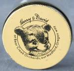 Click here to enlarge image and see more about item AF36: Vintage Harry and David Bear Creek Orchards Jar & Lid