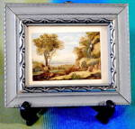 Click here to enlarge image and see more about item APR48: Vintage Silver Wood Frame of a Landscape