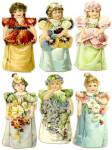 Vintage Enameline Advertising Stand Up Paper Dolls