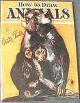 Click here to enlarge image and see more about item BNAC24: Vintage How to Draw Animals