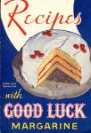 Click here to enlarge image and see more about item BNCP237: Vintage Recipes with Good Luck Margarine Cook Book