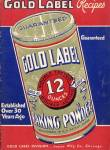 Click here to enlarge image and see more about item BNCP281: Vintage Gold Label Baking Powder Recipes