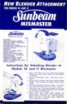 Click here to enlarge image and see more about item BNCP34: New Blender Attachment Sunbeam Mixmaster Recipes
