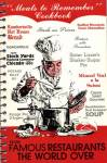 Click here to enlarge image and see more about item BNCS36: Meals to Remember Cookbook From Famous Restaurants