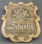 Click here to enlarge image and see more about item BREWAD19: Vintage Schenley Whiskey Sign